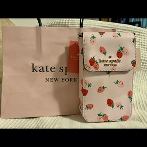 Kate spade strawberry phone crossbody